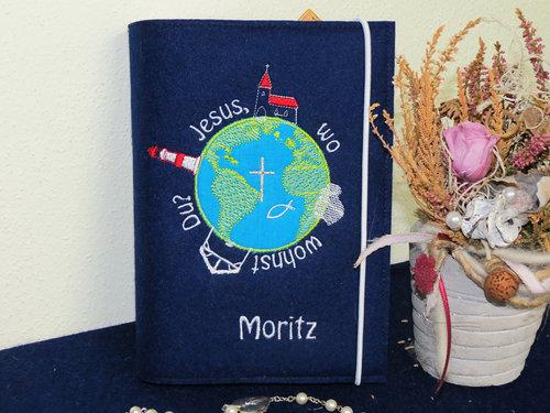 Gotteslob - Einband aus Wollfilz * Wo wohnst Du * Modell Moritz *