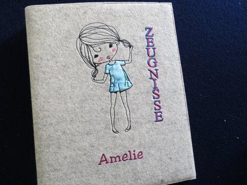 Zeugnismappe ♥♥ ♥♥ Modell Amelie