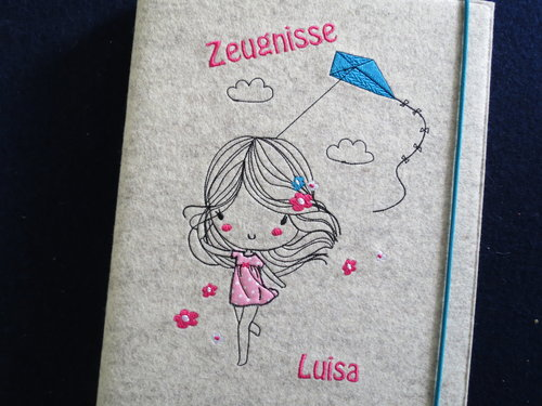 Zeugnismappe ♥♥ ♥♥ Modell Luisa
