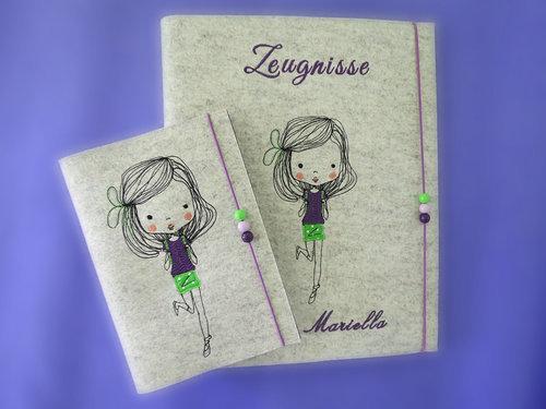 Zeugnismappe ♥♥ ♥♥ Modell Mariella